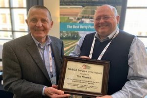 "Tim receives the 2020 NASGA ""Service with Impact Award"""